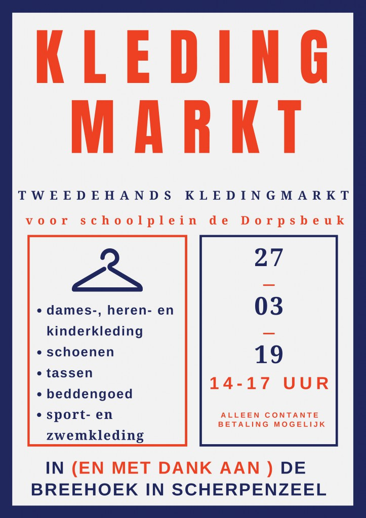 Kledingmarkt poster